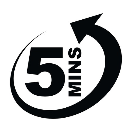 icono de cinco minutos