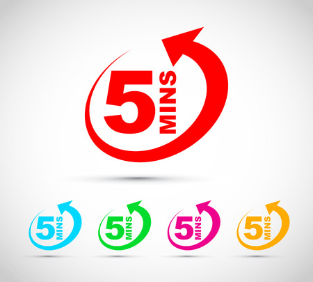 Five minutes icon set