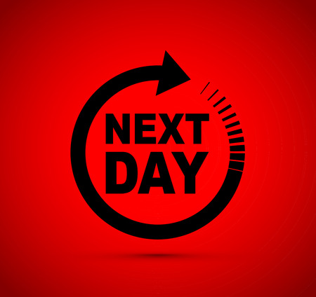 Next day icon Stockfoto - 115686461
