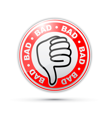 Bad thumbs down icon Vectores