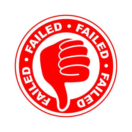 Failed thumbs down icon