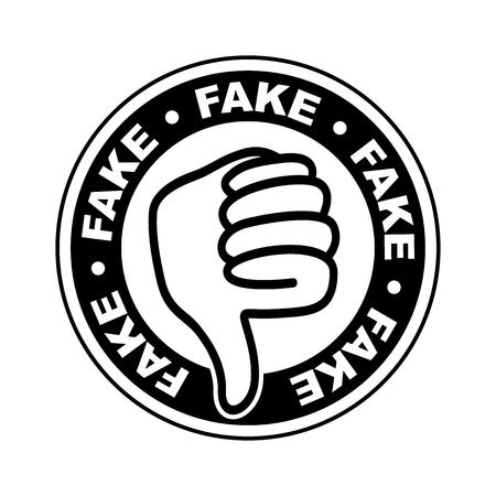 Fake thumbs down icon
