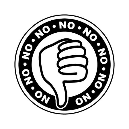 No thumbs down icon Illustration