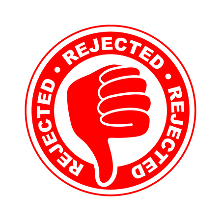 rejected thumbs down icon