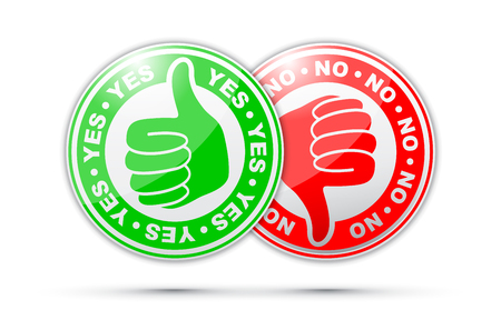 yes and no thumbs up and down icon