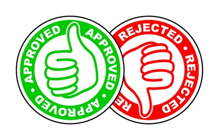 approved and rejected thumbs up and down icon