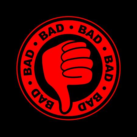 Bad thumbs down icon Ilustração