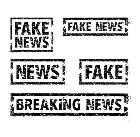 Set of news stamps