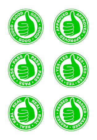 Set of thumbs up stamps