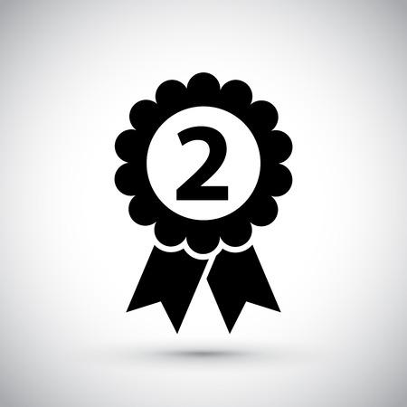 Medaille für den zweiten Platz