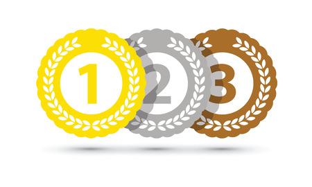 Top three medals Illustration