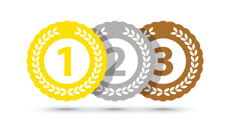 Top three medals Stock Illustratie