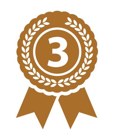 Third place medal Vektoros illusztráció