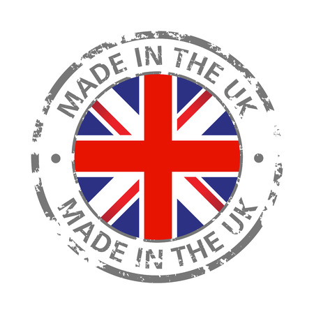 made in the uk flag grunge icon Ilustração