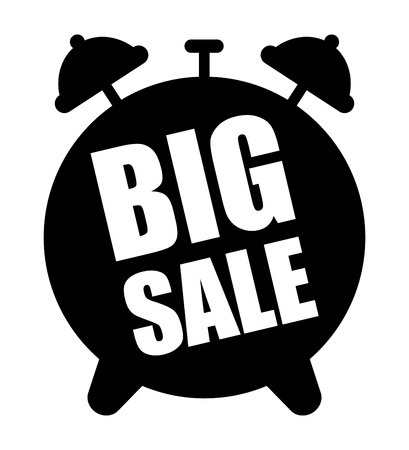 Big sale alarm clock icon