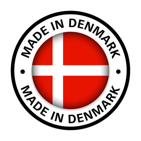 made in Denmark flag icon Vektorgrafik
