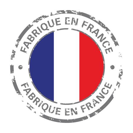 hergestellt in Frankreich Flagge Grunge-Symbol Vektorgrafik