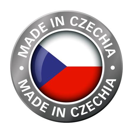 made in Czechia bandiera icona in metallo