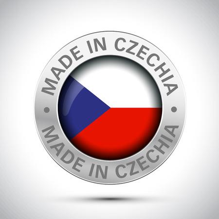 Hergestellt in Tschechien Flaggen-Metallsymbol