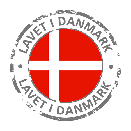 made in denmark flag grunge icon