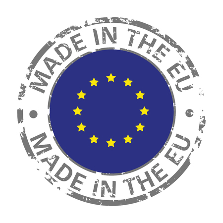 made in European Union flag grunge icon