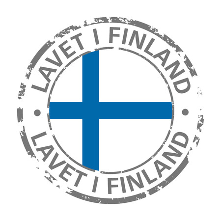 made in finland flag grunge icon