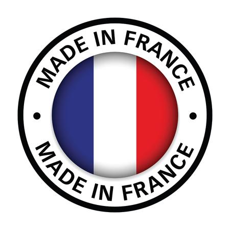 hecho en francia, bandera, icono Ilustración de vector