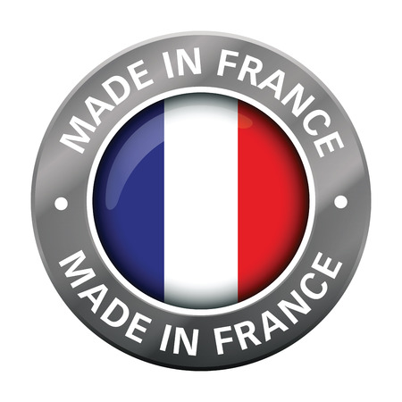 made in france flag metal icon