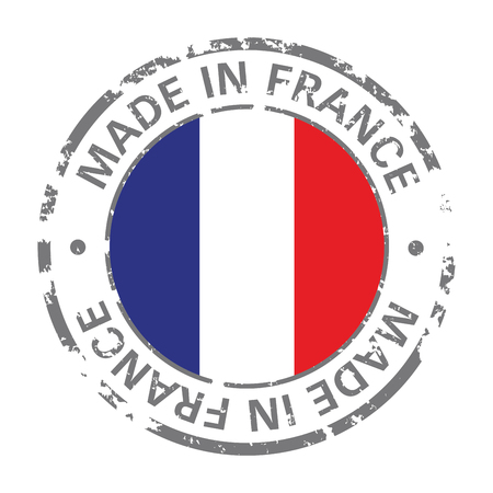 made in france flag grunge icon  イラスト・ベクター素材
