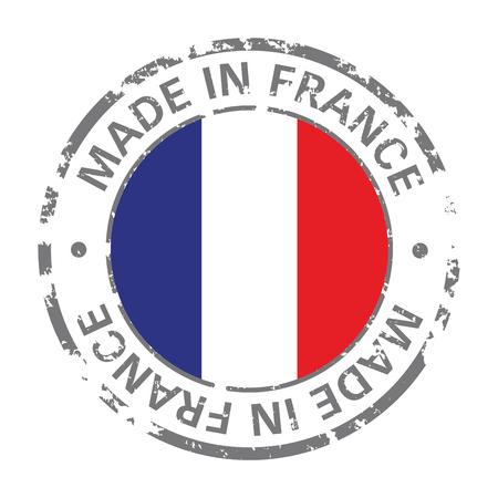 made in france flag grunge icon Illustration