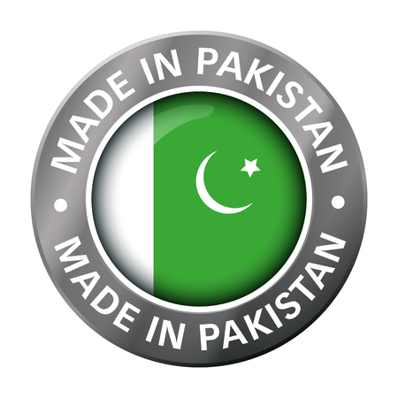 made in pakistan flag metal icon