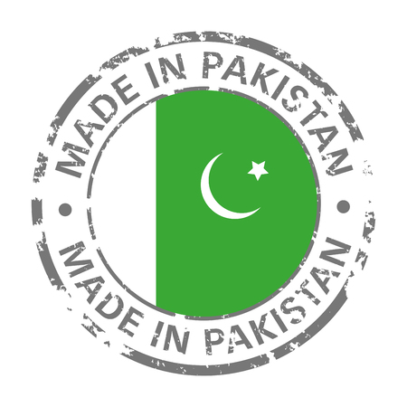 made in pakistan flag grunge icon