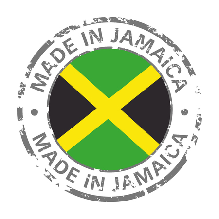 made in Jamaica flag grunge icon Stock Illustratie