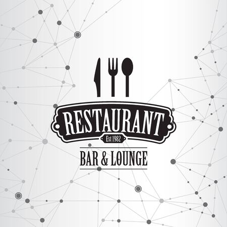Restaurant menu geometric connection background