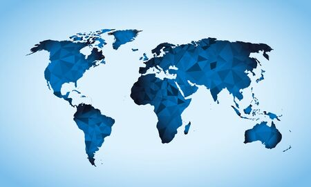 World map triangle geometric shapes Ilustracja