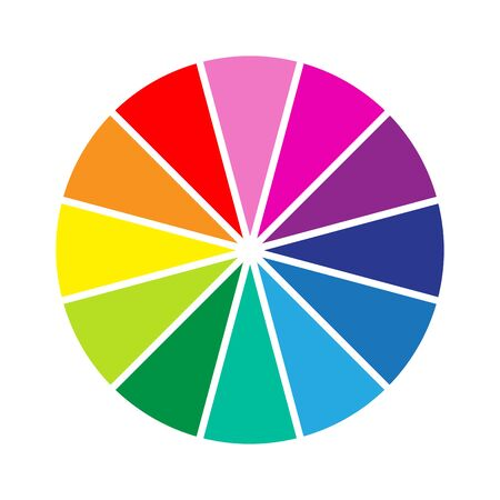 Colour wheel Ilustracja