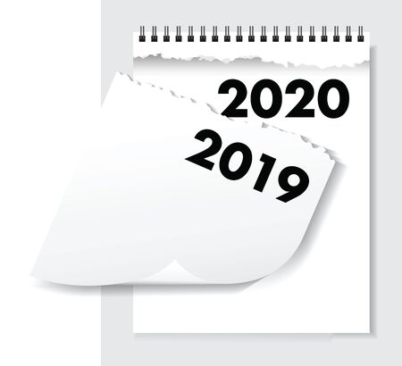 a 2020 torn calendar paper