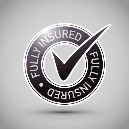 a fully insured shiny 3d icon