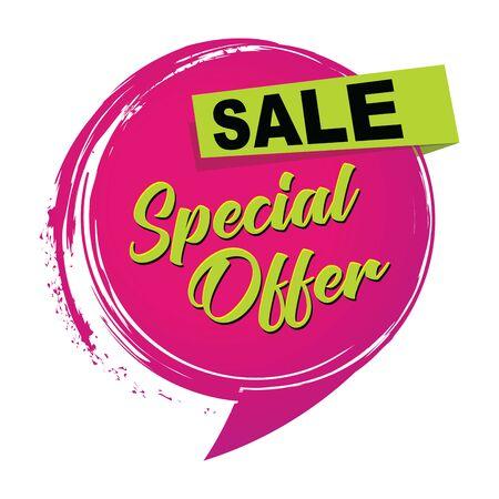 Un icono de venta de oferta especial.