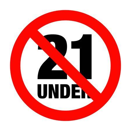 no under twenty entry badge