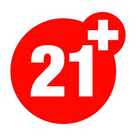 a twenty-one years over icon Illustration