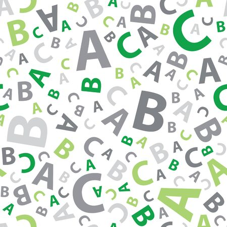 Green and grey abc letter background seamless