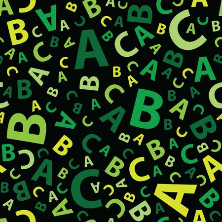 Green abc letter background seamless