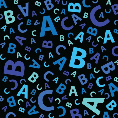 Blue abc letter background seamless