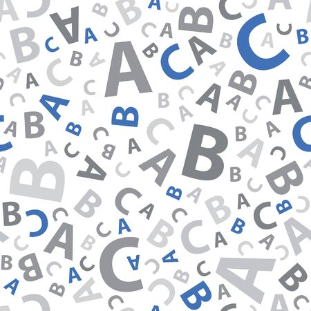 Blue and grey abc letter background seamless