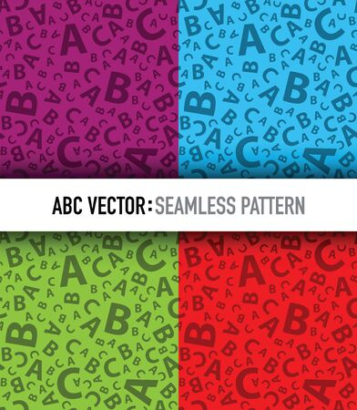 Multicoloured abc letter background seamless