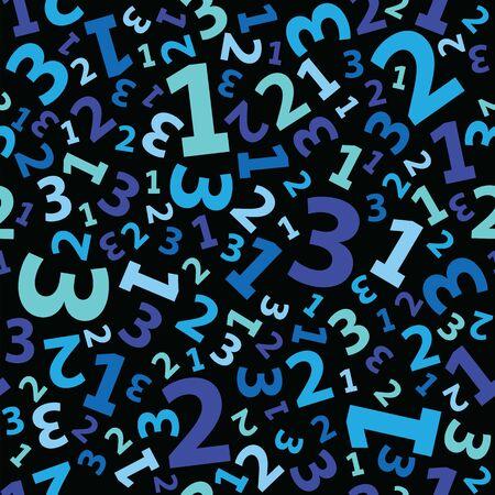 Blue 123 number background seamless Illustration