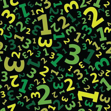 Green 123 number background seamless Illustration