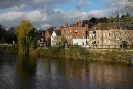 La ciudad mercado georgiana de bewdley orillas del r�o Severn en la worcestershire severn valle inglaterra midlands. photo