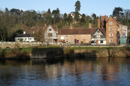 La ciudad georgiana de mercado de Bewdley junto al r�o Severn en el Worcestershire Severn la Inglaterra Midlands. photo